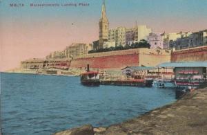Malta Marsamuscetto Landing Place Ship Boat Formation Antique Postcard