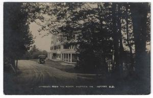 RPPC,  Jaffrey, New Hampshire, View of Shattuck Inn From The North