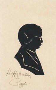 SILHOUETTE, Scissor type, 1901-07; Man wearing glasses facing right