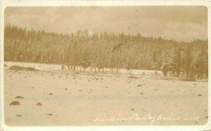 Stanley Basin Idaho Winter Scene RPPC Photo Postcard 21-7210