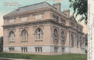 NEW BRITAIN, Connecticut, PU-1908; Public Library, version 2