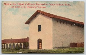 San Miguel CA Mission~Junipero Serra~Taking in Sights With Millionaires~c1910