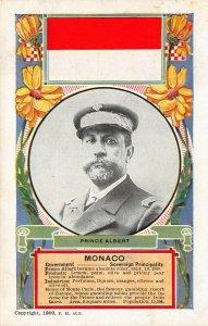 LP64 Monaco Prince Albert   Flag    Postcard