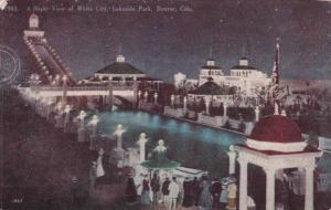 A Night view of White City, Lakeside Park, Denver, Colorado,PU-1910