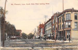 Mt Pleasant IA~Nat'l Bank (De Brito)~Dirt St~Classique Design~Union Block c1907