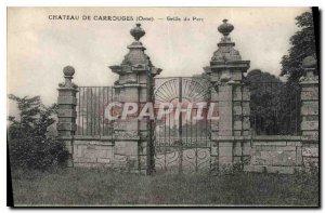 Postcard Old Chateau of Carrouges Orne Park Grille