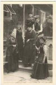 RP Bregenzerwalder Trachten, 6 women in traditional clothing,Germany, 00-10s