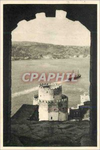 Postcard Old Istanbul Bogazici Rumelihisarindan A view of the Bosphorus from ...