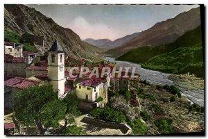 Postcard Modern Haute Vallee Du Var Touët-sur-Var The Old Village and the Va...