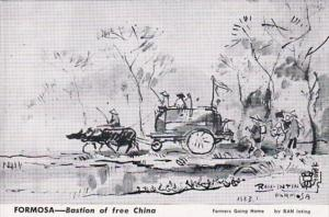 Formosa Bastion Of Free China Farmers Going Home by Ran Inting