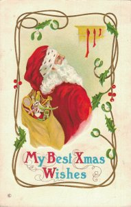 My Best Xmas Wishes - Santa Claus - Postcard 03.93