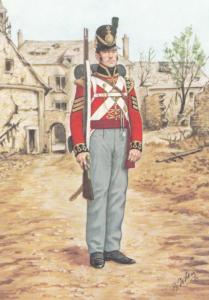 Sergeant Grenadier Guard 1815 Foot Guards Military Uniform Postcard