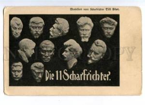 157501 Heads of 11 Executioner TILL BLUT vintage Postcard