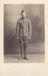 Military Soldier Posing In Uniform To Abbie From Miles Real Photo