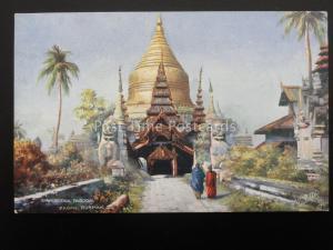 Burmah Burma PAGAN Shewgeena Pagoda c1906 Postcard by Raphael Tuck & Sons 7238