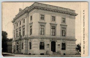 Grand Forks North Dakota~Post Office~Federal Court House~Globe Sconces~c1910