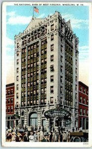 1927 Wheeling WV Postcard The National Bank of West Virginia Building View