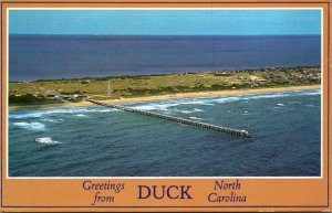 North Carolina Greetings From Duck Aerial View 1988