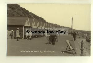 tp8365 - Hants - The Bungalows on Seafront, West Cliff,  Bournemouth -  postcard