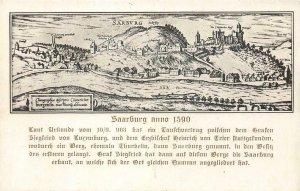 Saarburg anno 1590 Sarbvrg Germany c1910s Vintage Postcard