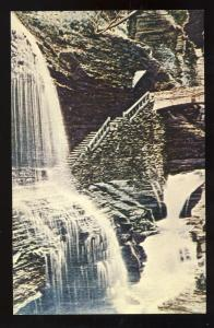 Watkins Glen, New York/NY Postcard, Rainbow Falls #2