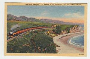 P2216, vintage postcard the daylight train los angeles to san francisco calif