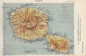 Maps Tahiti Unused