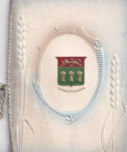 SASKATCHEWAN, Canada, 1900-10s; Embossed, Crest, Booklet, String tied