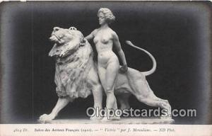 Statue Postcard Victrix Salon Des Artistes Francais 1910