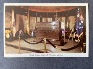 Final Resting Place Abraham Lincoln Springfield IL Chrome Postcard H1163084502