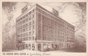 Illinois Galesburg The Greater Hotel Custer 1946