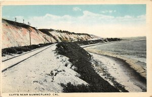 G26/ Summerland California Postcard c1910 Cliffs Railroad Tracks