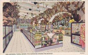 Texas San Antonio Buckhorn Curio Store Interior Curteich