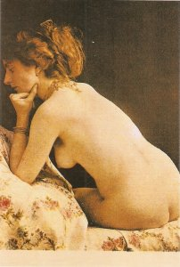 Nude LadY. From behind Modern Spanish repro of old French PC. Continental size