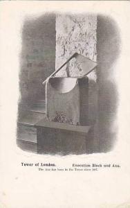 Execution Block & Axe, Tower Of London, England, UK, 1900-1910s