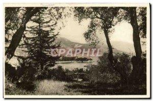 Modern Postcard Beaulieu View Between the Olives