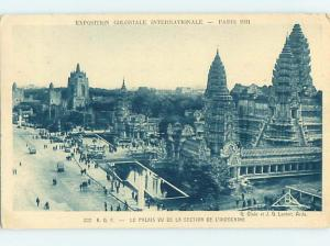 1931 postcard INDOCHINA EXHIBIT AT EXPO Paris France hn6337