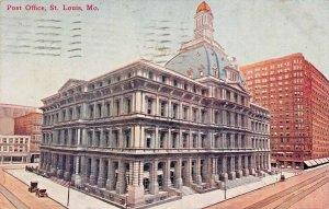 ST LOUIS MO~LOT OF 5 1910s POSTCARDS-POST OFFICE-VANDEVENTER-LIBRARY-COLISEUM