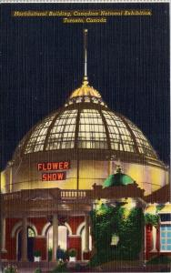 Flower Show Toronto ON CNE Canadian National Exhibition Unused Linen Postcard F2