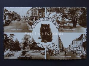 Bedfordshire LUTON 5 Image Multiview c1950's RP Postcard by Valentine
