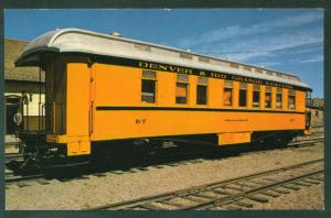 Denver & Rio Grande Western RR Train Narrow Gauge Car Station Railroad Postcard