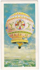 Trade Cards Brooke Bond Tea Transport Through The Ages No 14 Hot Air Balloon