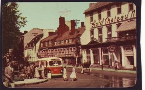 P1529 vintage unused postcard place d,arms hotel bus people quebec canada