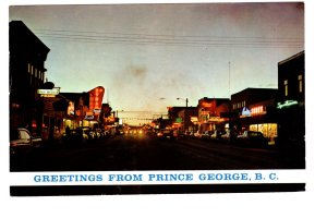 Greetings from Prince George, Third Avenue, British Columbia,