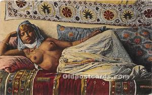 Arab Nude Postcard La Sieste Writing on back