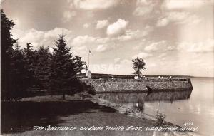 C18/ Garrison Minnesota Mn Photo RPPC Postcard c40s Lake Mille Lacs Concourse