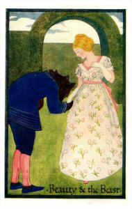 Victorian Card Beauty and the Beast