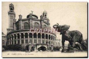 Old Postcard Paris Trocadero Elephant