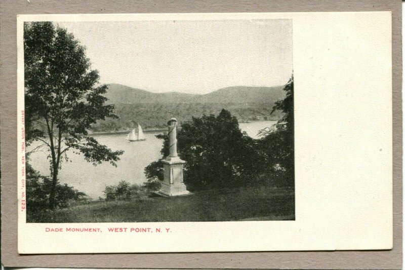 Postcard NY West Point Dade Monument Sailboat 2111M