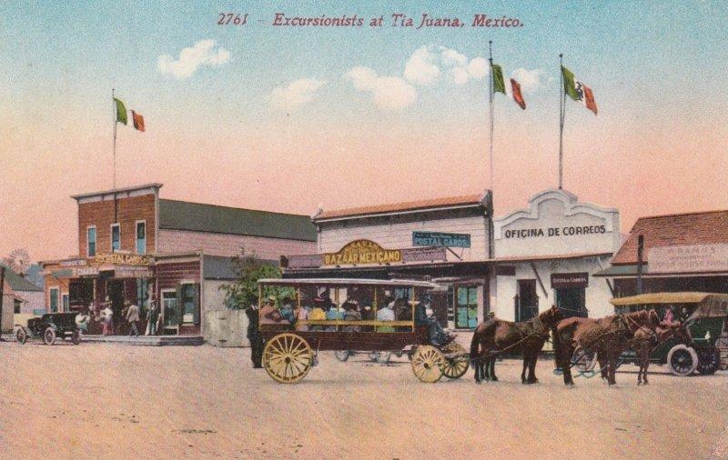 TIJUANA , Mexico , 00-10s ; Main Street , Excursionists